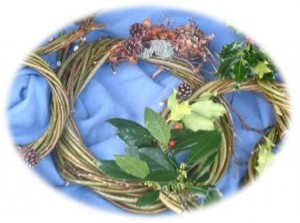 willow wreath oval